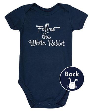 Garnamama gyermek body Rabbit 56 kék
