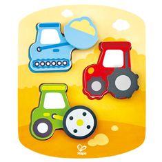 Hape Toys puzzle delovna vozila