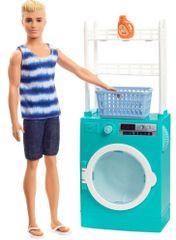 Mattel Barbie Ken s nábytkom a práčkou