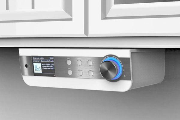 Kuchyňské rádio soundmaster ir1450we sleep snooze hodiny budík duální alarm dálkové ovládání aux in