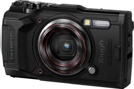 Olympus Tough TG-6 digitalni fotoaparat, podvodni, črn
