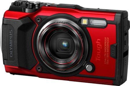 Olympus Tough TG-6 digitalni fotoaparat, podvodni, rdeč