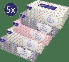 LINTEO Papirnati robčki v škatli, 5 x 200 kosov