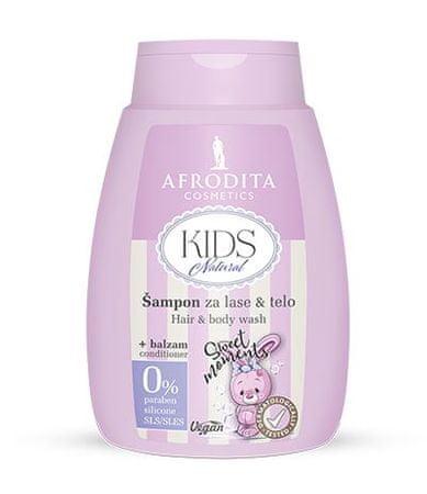 Kozmetika Afrodita šampon za lase & telo + balzam Kids Natural, 200ml