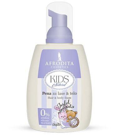 Kozmetika Afrodita pena za lase & telo Kids Natural, 190ml