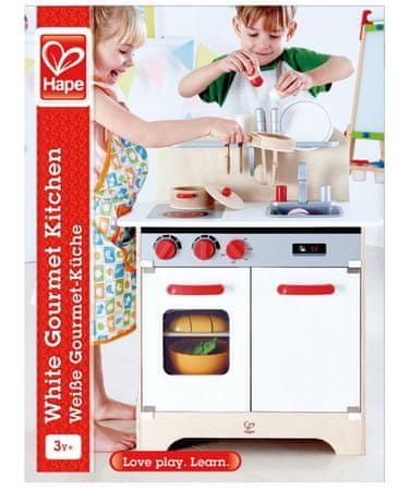 Hape kuhinja za gurmane, bela, 70 cm