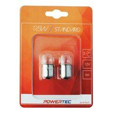POWERTEC žarnice Standard R5W 12V 5W BA15S
