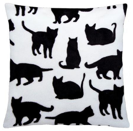 My Best Home vzglavnik iz mikrovlaken Kitties, bel, 40 × 40 cm