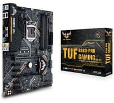 Asus osnovna plošča TUF B360-PRO GAMING (WI-FI), DDR4, USB 3.1 Gen2, LGA1151, ATX