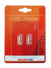 POWERTEC žarnice Standard W5W 12V 5W W2,1x9,5D