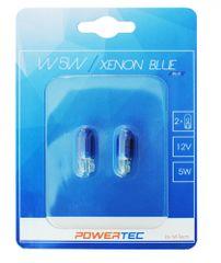 POWERTEC žarnice Xenon Blue W5W 12V 5W W2,1x9,5D