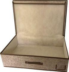 DUE ESSE Textilní úložný box 60 x 40 x 16 cm, světle hnědá
