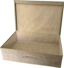 DUE ESSE Textilní úložný box 60 x 40 x 16 cm, přírodní