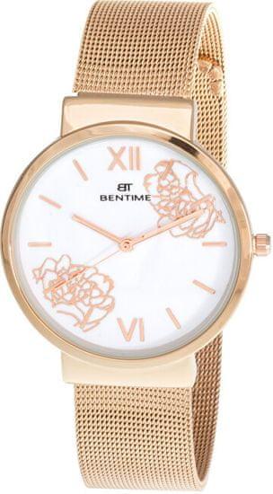 Bentime Dámské květinové hodinky 008-9MB-PT12084F