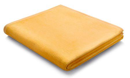 Biederlack pamučna deka Gelb Uni