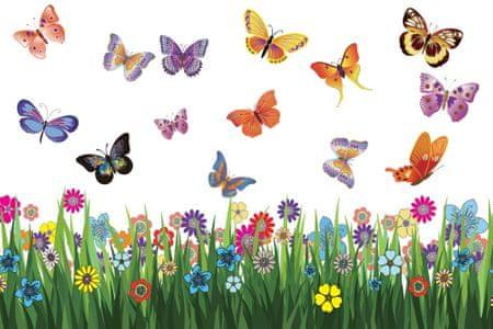Walplus Rozkvetlá louka s motýlky WS5031