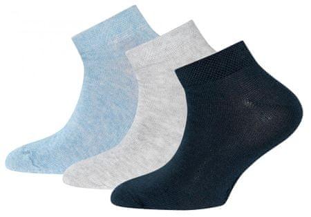 EWERS dekliški komplet treh parov nogavic, 27 - 30, svetlo moder