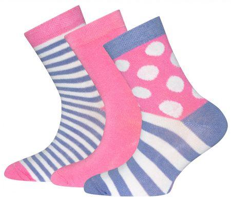 EWERS otroški komplet treh parov nogavic, 27 - 30, roza