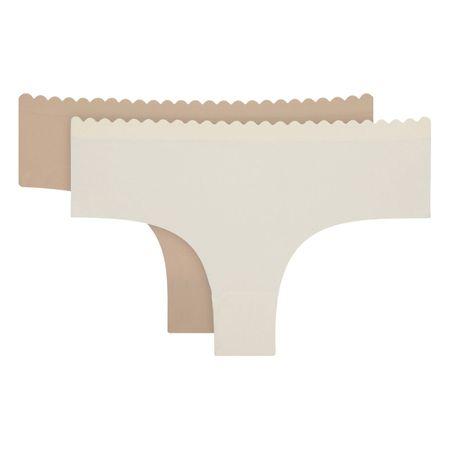 DIM dámské kalhotky D05DT BODY TOUCH MICRO HIPSTER 2 ks béžová/hnědá S