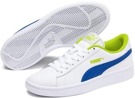 Puma Smash v2 L Jr White-Galaxy Blue-Limepunch 35,5