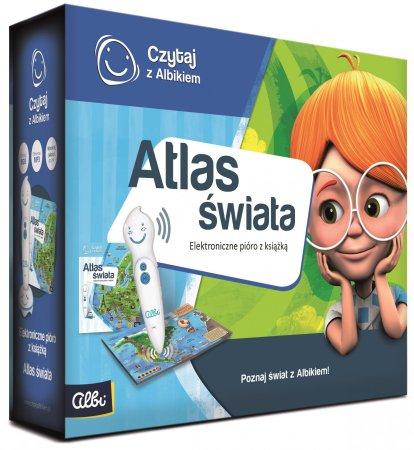 Albi Czytaj z Albikiem - Pióro + Atlas świata