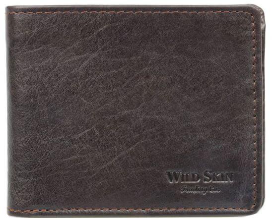 Wildskin Kožená peněženka Gordon hnědá