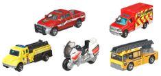 Matchbox samochody angielscy strażacy, 5 szt.