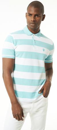 Jimmy Sanders férfi galléros póló M világoskék