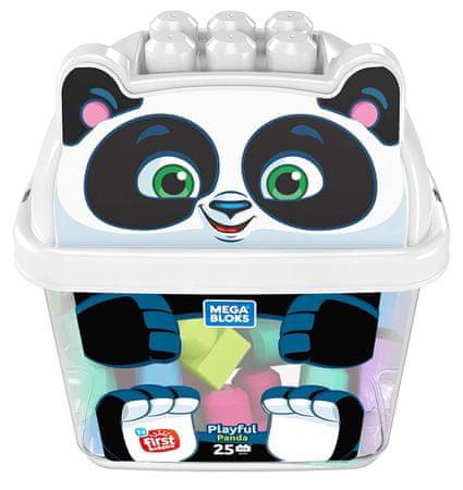 MEGA BLOKS Wiaderko z kostkami Panda