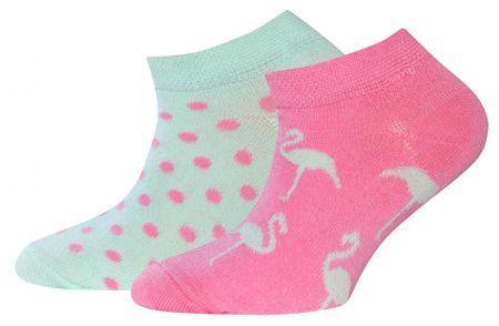 EWERS dekliške nogavice, 2 para, 23 - 26, večbarvne