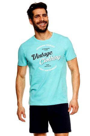 Henderson Férfi pizsama 36825 Jones turquoise, türkiz, L