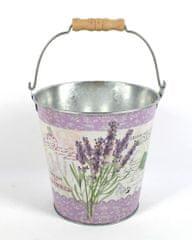 DUE ESSE Vedro Levanduľa Provence, obal na kvetináč alebo dekorácia (15 cm)