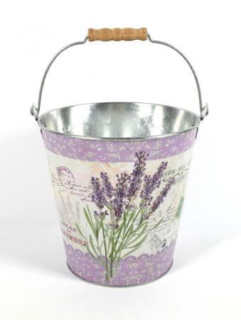 DUE ESSE Vedro Levanduľa Provence, obal na kvetináč alebo dekorácia (20,5 cm)