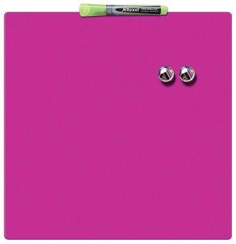 Nobo tabla magnetna quarter 36x36 cm, roza
