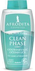 Kozmetika Afrodita odstranjevalec očesnih ličil Clean Phase, 125 ml