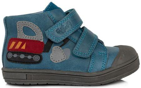 Ponte 20 chlapčenské kožené topánky 22 modrá