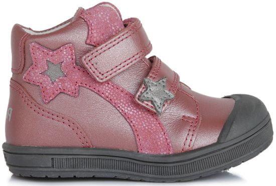 Ponte 20 dívčí kožené boty 23 růžová