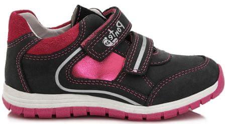 Ponte 20 lány bőr cipő 33 fekete/rózsaszín