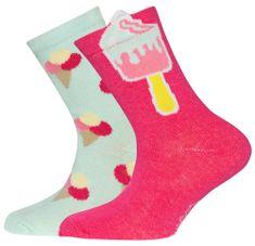EWERS čarape za djevojčice s uzorkom