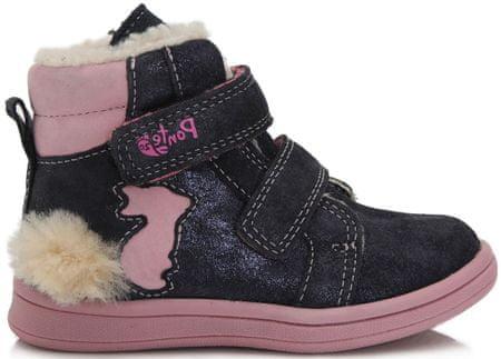 Ponte 20 dekliški zimski škornji, 22, modri
