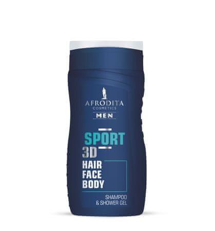 Kozmetika Afrodita gel za šamponiranje in prhanje Men Sport, 250ml