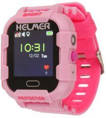 Helmer Smart dotykové hodinky s GPS lokátorom a fotoaparátom - LK 708 ružové