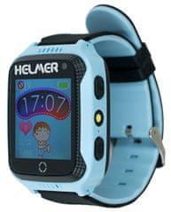 Helmer Smart dotykové hodinky s GPS lokátorom a fotoaparátom - LK 707 modré