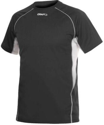 Craft T&F Tee Black/White Men muška majica za trčanje, S, crna/bijela