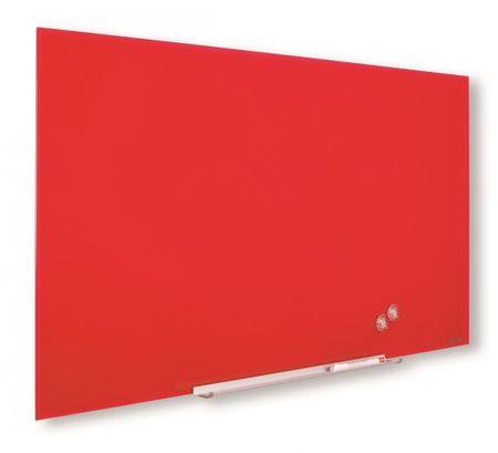 Nobo tabla steklena diamond 67,7x38,1cm, rdeča