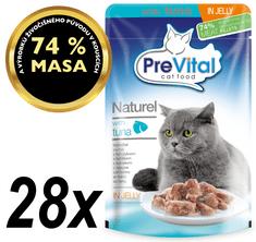 PreVital NATUREL párolt filé tonhallal, zselében 28 x 85 g