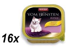 Animonda pašteta za mačiće, Vom Feinstein, perad, 16 x 100 g