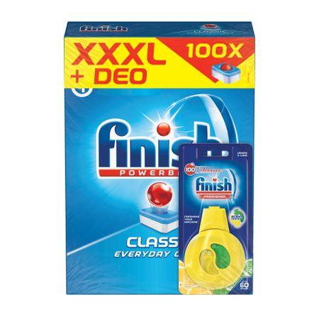 Finish All-in-1 100 db + Mosogatógép tisztító Lemon 250 ml