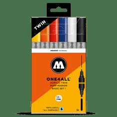 MOLOTOW™ ONE4ALL™ Acrylic Twin Basic Set 6ks