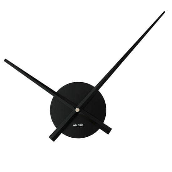 Walplus Minimalistické nástenné hodiny WC2050, čierne